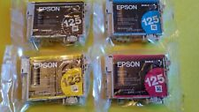 4-PACK Epson GENUINE 125 Black & Color Ink (NO RETAIL BOX) STYLUS NX420 NX625