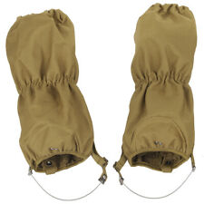 MFH Waterproof Walking Gaiters Tactical Trekking Winter Hiking Bushcraft Brown