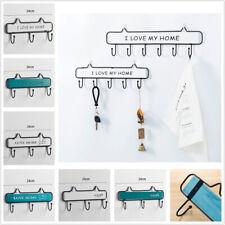 Wall Mount Key Rack Hanger Holder 3 Hooks Chain Storage Keys Organizer