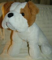 Kelly Toy White Brown Puppy Stuffed Plush Animal 15""