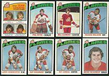 1976-77 OPC ATLANTA FLAMES GUY CHOUINARD - RICHARD MULHERN ROOKIE CARDS + 11 LOT