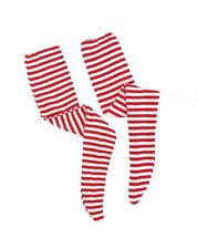 Red White Holiday Wheres Waldo Striped Costume Accessory Socks