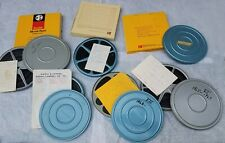 "Lot of 9 Vintage Home Movie Film 7"" Reels 8mm Family Travel 1960s COLOR"