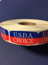 U.S.D.A Choice Labels 1000 Per Roll Great Stickers Deal Large Rl