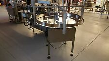 "NEW 48"" ROUND FEED TABLE, ROTARY BOTTLE UNSCRAMBLING TABLE, ROUND BOTTLES"