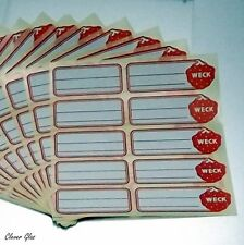 50 Stück WECK ® Etiketten - Selbstklebend - Ideal zum Beschriften von Gläsern