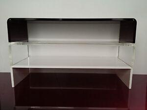 Perspex Acrylic Monitor TV I mac Sonos Riser Retail Display Plinth Stand Shelf