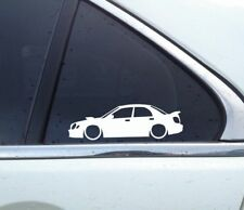2x Lowered car outline stickers -for Subaru Impreza WRX Bug Eye sedan small wing