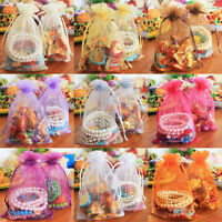 25/50/100Pcs Sheer Organza Wedding Birthday Party Favors Gift Candy Bags 12x9cm