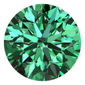1.9 MM CERTIFIED Round Fancy Green Color VS 100% Real Loose Natural Diamond #A