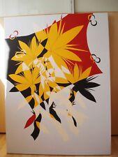 Dipinto originale, Acrilico su tela firmato, astratto, Fiore di Loto contemporanea