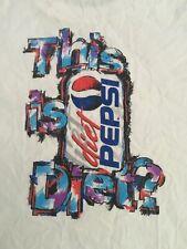 "Vintage Diet Pepsi Single Stitch Shirt ""This Is Diet Pepsi"" XLarge"