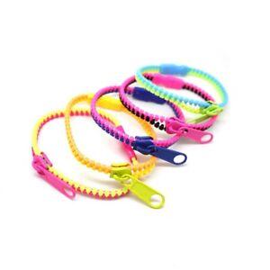 48pcs zipper bracelet mixed lots for men women fashion cuff bangle wristbands