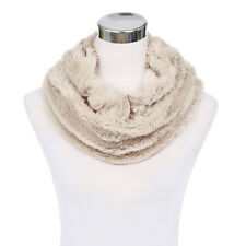 Premium Soft Small Faux Fur Solid Color Warm Infinity Circle Scarf - Diff Colors