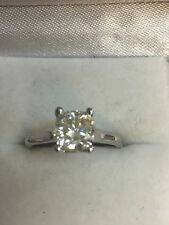 2.00Ct Cushion-Cut Moissanite Solitaire Engagement Wedding Ring 14k White Gold