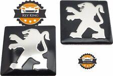 2 x 15mm Peugeot key badge emblem logo sticker for 2 3 button fob flip key 306