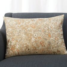 """Crate & and Barrel OLICIA Pillow Cover-22"""" x 15""""-NWOT- Jacquard- Warm Neutrals"""