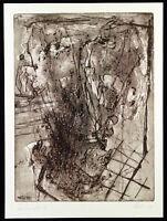 "DDR-Kunst ""Barhaupt V"" 1988 Aquatinta Wolfgang KE LEHMANN (*1950 D) handsigniert"