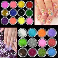 20 Fine Glitter Pots Mixed Flake Body Art Nail Hair Eye Lip Cosmetic Tattoo Art