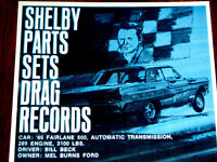 1967 FORD SHELBY PARTS ORIGINAL AD *1965 Fairlane 500/GT/hood/decal/Cobra/wheels