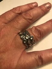 Swatch Womens Silver Ring Size T 1/2