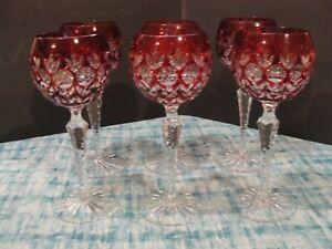 "Godinger Dynasty 6 RED HOCK WINE GLASS 7 3/4"""