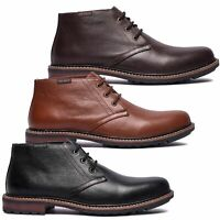 Mens Sam Sailor Casual Ankle Lace Up Mid Chukka Leather Boots Sizes 7 to 11