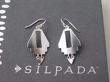 """NIB Silpada Sterling Silver Southwestern """"NAVAJO"""" Earrings W3373"""
