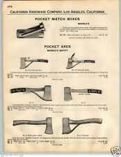 1932 PAPER AD Marble's Pocket Axe Axes Hunting Camp Guarded