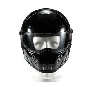 S/M/L/XL DOT Classic Motorcycle Plain Fiberglass Helmet Gloss ATV Motocross Bike