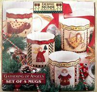 Set of 4 Sakura GATHERING OF ANGELS Mug  Debbie Mumm, Christmas, EUC
