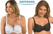 Naturana Soft Full Cup Underwired Bra 87509 Black or White Womens