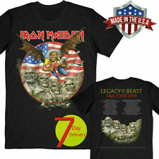 RATE!!! Iron Maiden Legacy Of The Beast Tour USA 2019 T-Shirt Cotton Size S-3XL