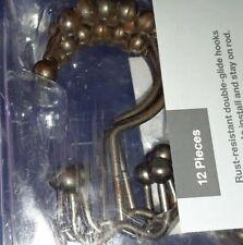 Target Rust Resistant Shower Hooks Bronze Finish Double Hook 12 Count