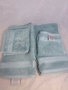 Charisma Luxury Towels Hand Towels and Wash Clothes 4 Pieces Greenish