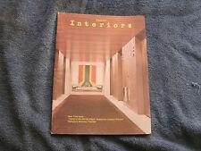 Interiors  Magazine August  1972