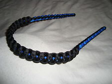 On Target Bow Wrist Sling made for the Monster Chill compound bow in Black/Blue