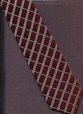 New Classic Jos A Bank 100% Silk Tie Necktie Burgundy With Stripes 3''x 56''