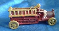 Christmas Ornament Vintage Fire Truck FireFighter NEW OLD STOCK 3 3/4""