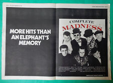 MADNESS COMPLETE MADNESS LP DOUBLE A3 POSTER ADVERT CUTTING NME 1982 2 TONE SKA