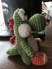 "New Hand Crochet Mario ""Yoshi""  Doll Toy Plush"