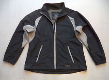 Womens LL BEAN fitness jacket Sz L track athletic running cycling gym sports pro