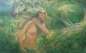 Artist Gordon King Limited Edition Print 'Spring' No. 218/450