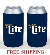 Miller Lite 2 16oz Beer Can Coolers Koozie Coolie Pint Huggie Pounder New
