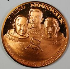 Apollo 14 Bronze Medal Third Moonwalk Mitchell Shepard Roosa