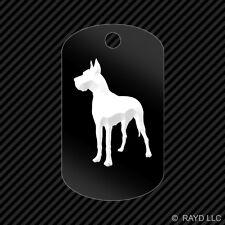 Great Dane Keychain GI dog tag engraved many colors  dog canine pet