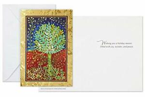UNICEF Doves in Topiary Tree Christmas Boxed Cards, 15 cards/16 envelopes