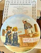 """New ListingKnowles Collector Plate Fish Story""""Jeanne Down's Friends I Remember Series w/Coa"""