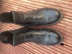MENS DEALER CHELSEA LIGHTWEIGHT LEATHER WORK BOOTS black dm Size uk 8
