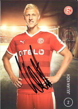 Autogrammkarte 15/16 Julian Koch Fortuna Düsseldorf AK 2015/2016 BVB handsig.